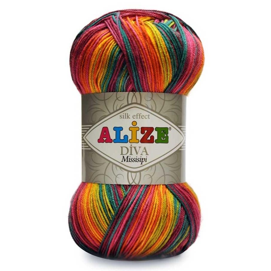 Нитки для вязания ализе меланж 63