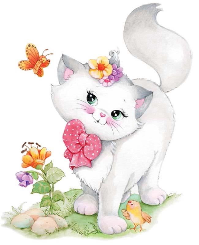 Открытки с милыми кошками